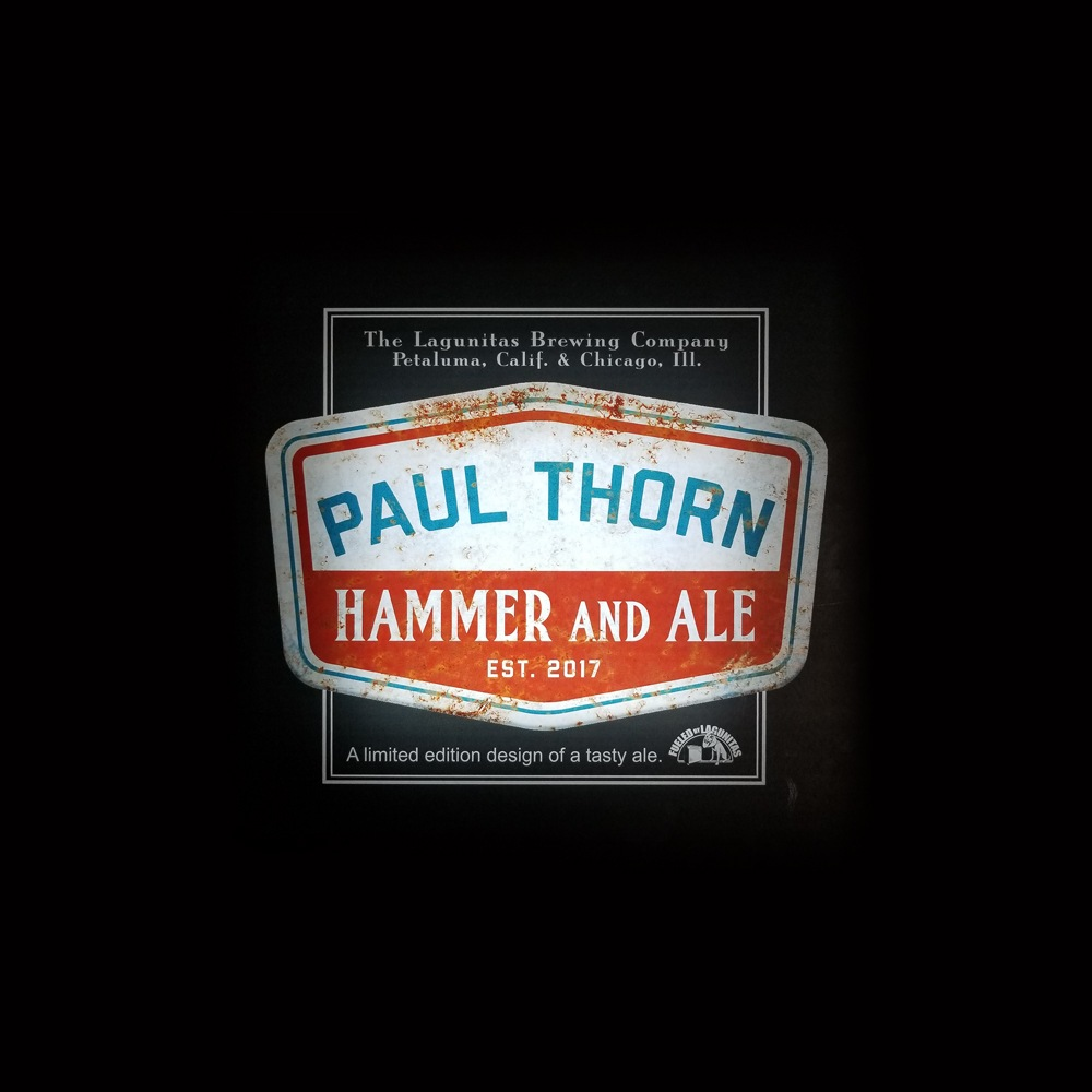 Paul Thorn Hammer and Ale Retro Sign